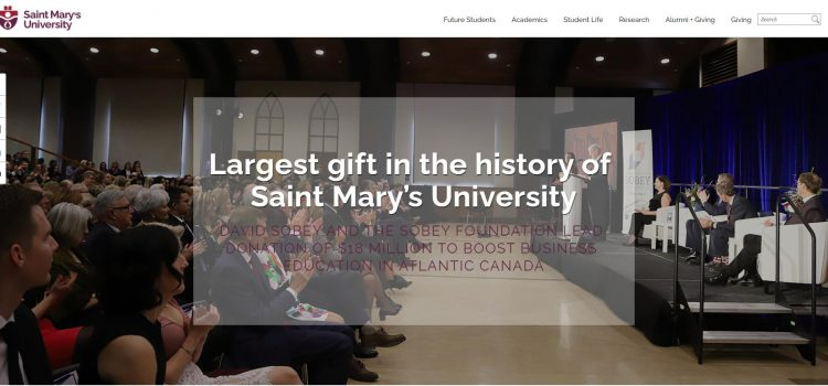 Largest gift in the history of Saint Mary's University