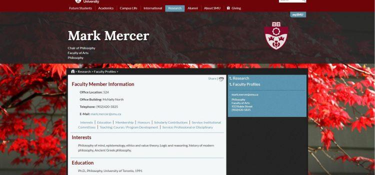 Mark Mercer - Saint Mary's University